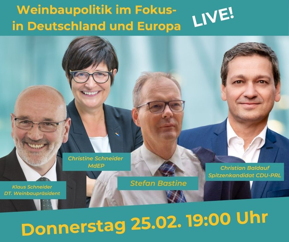 Weinbaupolitik im Fokus!